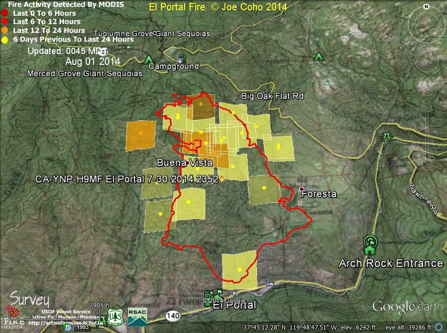 Elportal Fire Modis Fire Activity 0045 Mdt Aug 1 2014