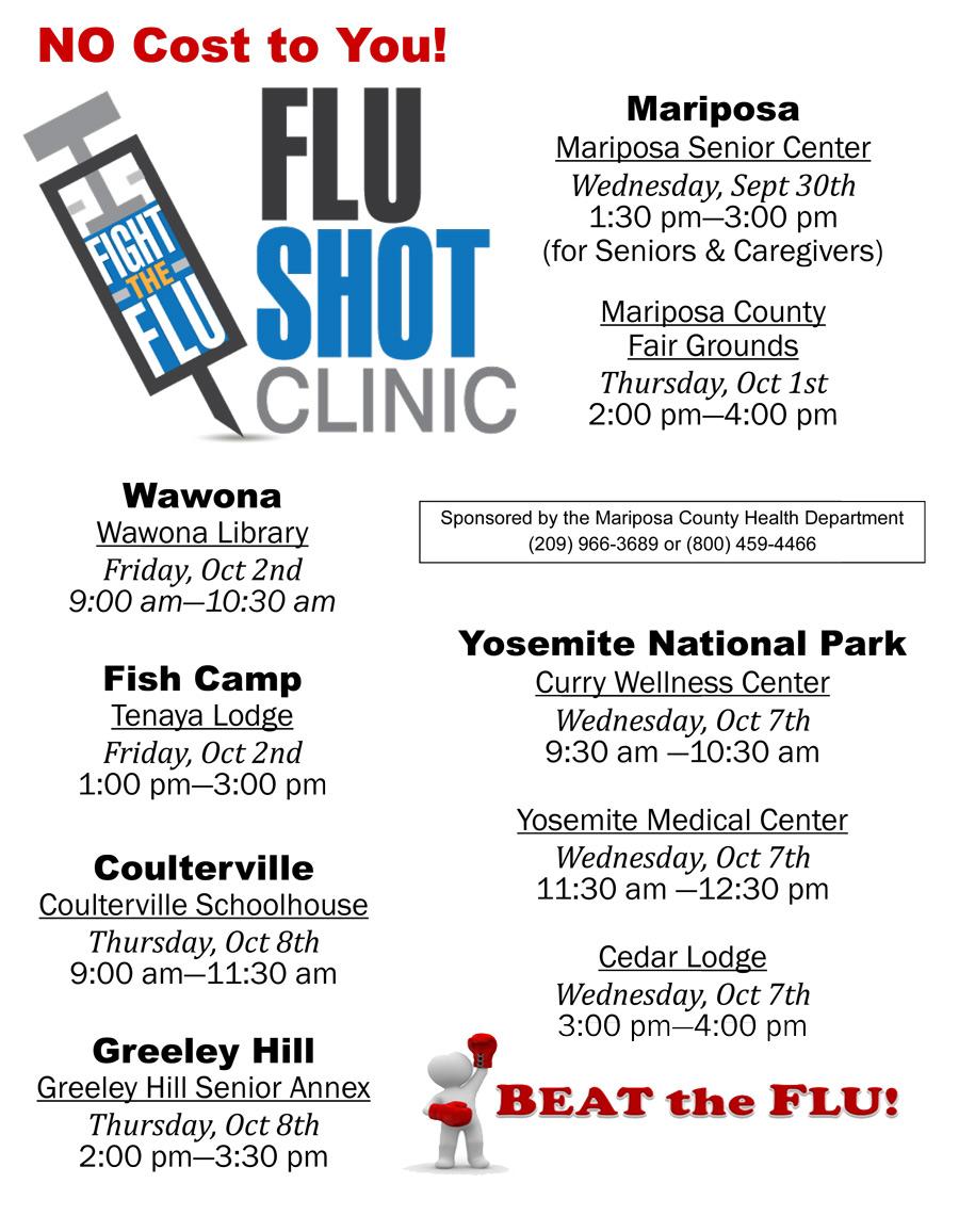 Flu Vaccine Flyers Free: Mariposa County Free Flu Shot Schedule For 2015