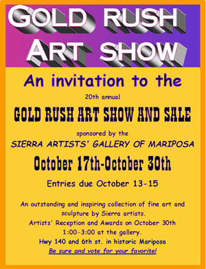 Gold Rush Art Show ad