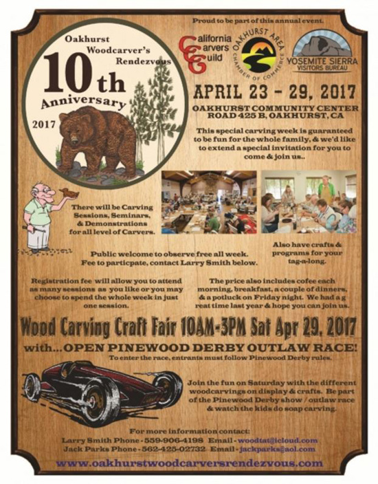 4 23 17 Wood Carving Craft Fair