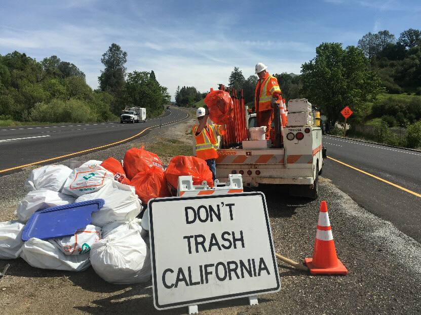 caltrans litter pick up