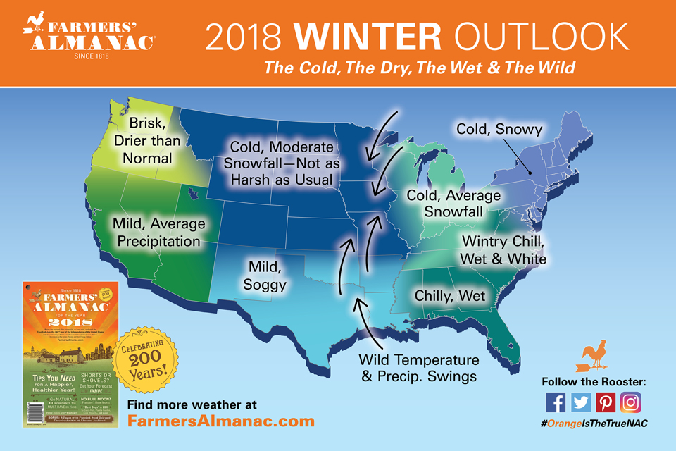 Farmers Almanac Releases National Winter 2018 Winter Prediction