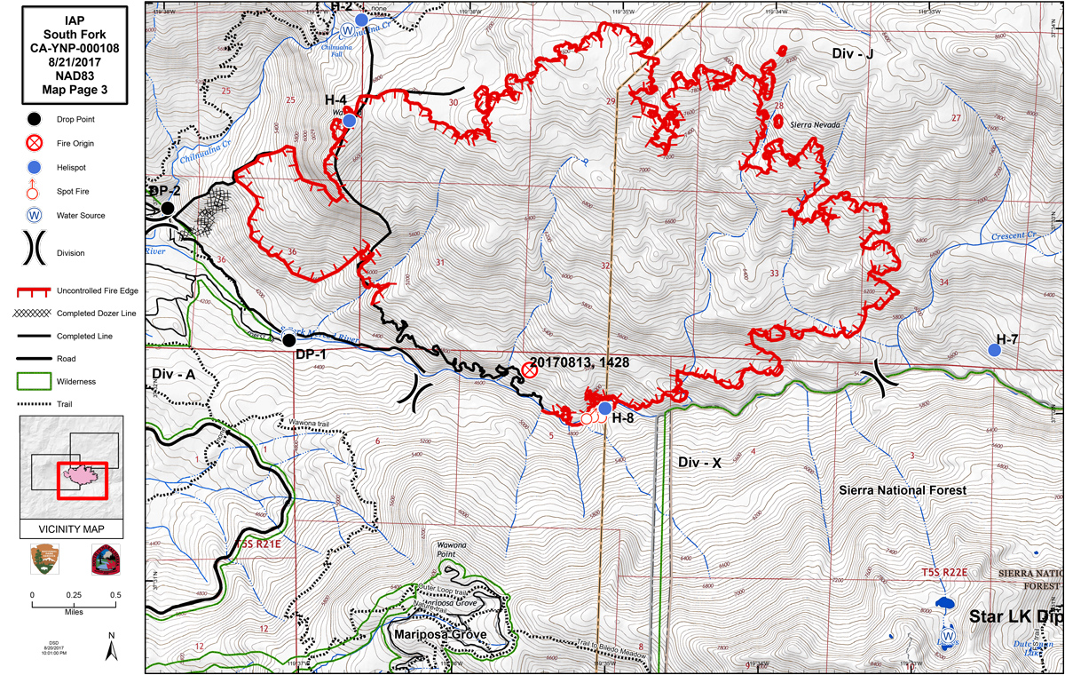 South Fork Fire remains 10% contained