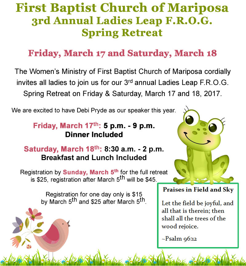 2017 Ladies Retreat flyer