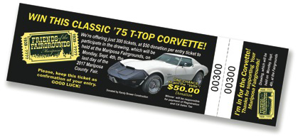 Corvette ticket