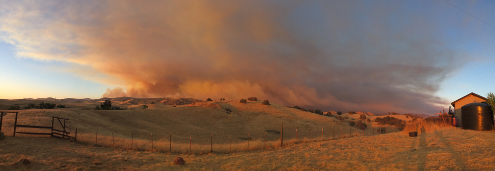 detwiler fire mariposa county monday evening 3 credit barbara milazzo