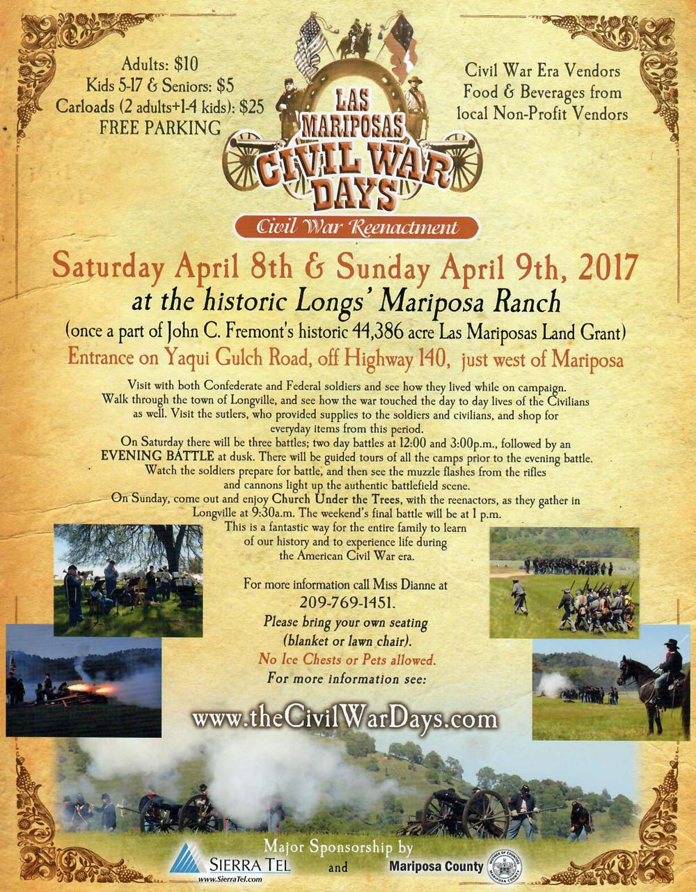 2017 Civil War Days flyer