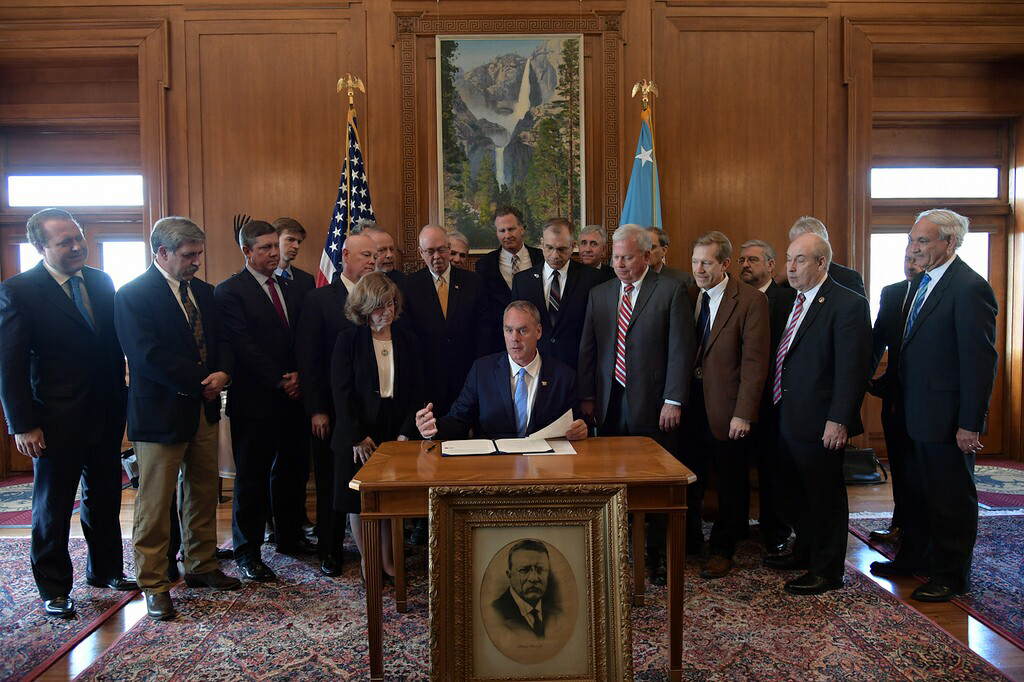 Secretary Zinke Signs Orders To Expand Access To Public