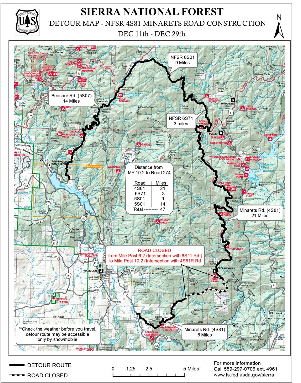 sierra national forest map pdf