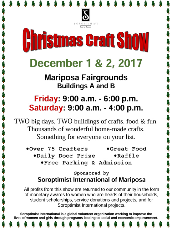 2017 Christmas Craft Show Flyer