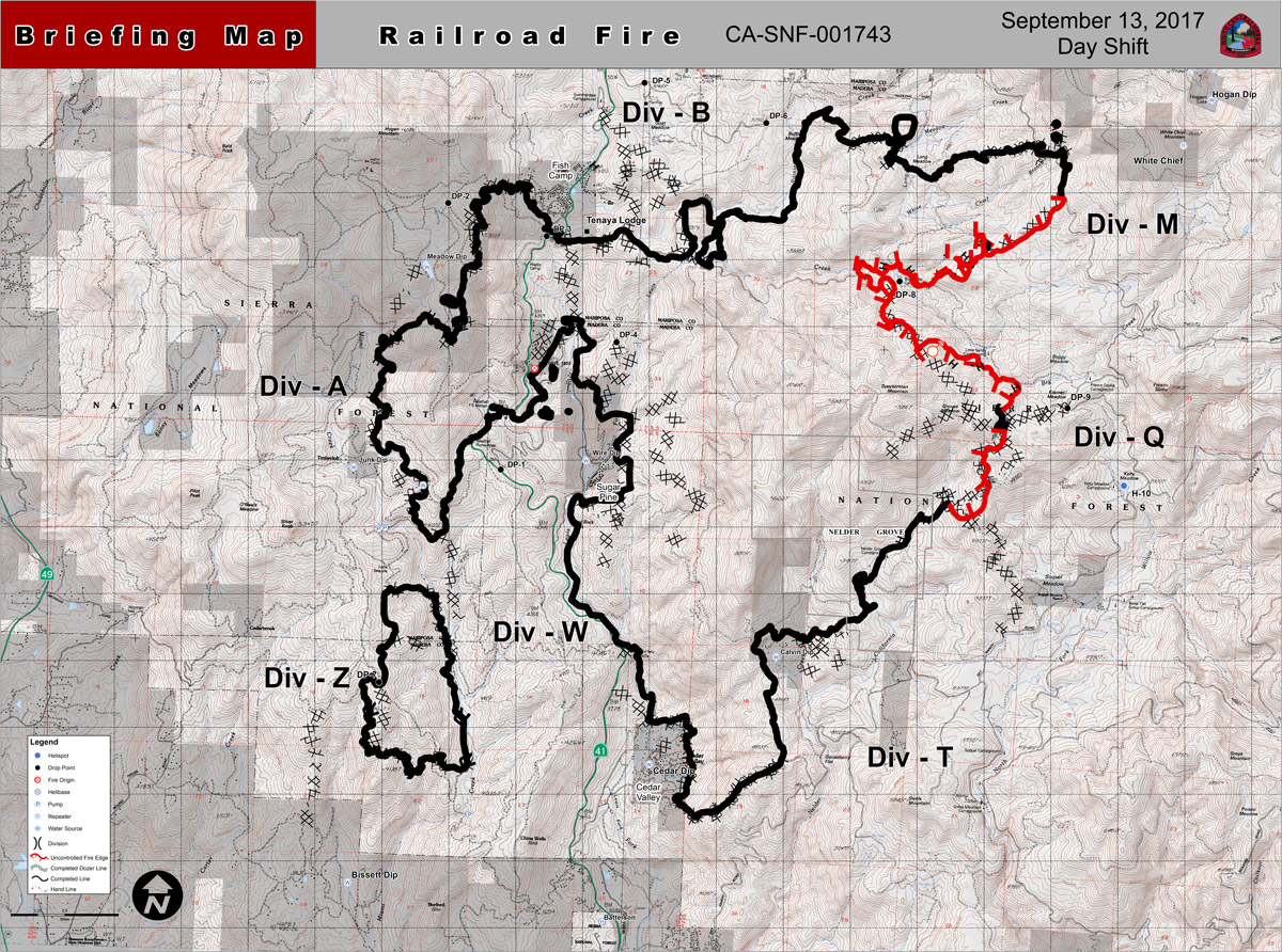 railroad fire perimeter map september 13 2017
