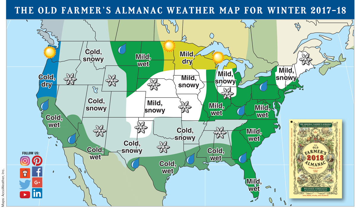 weather map us old farmers almanac 2018