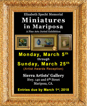 2018 Miniatures in Mariposa ad