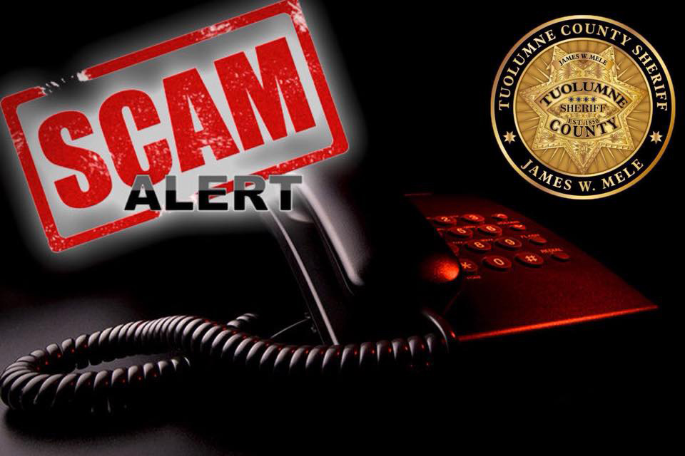 Tuolumne County Sheriff scams graphic