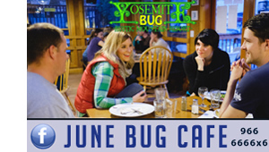 'Click' here to visit the 'June Bug Cafe' at the Yosemite Bug for Breakfast, Lunch & Dinner. They offer Fresh, Local, & Organic options....worth making a trip for!