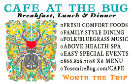 'Click' For More Info: Visit the 'Cafe at the Bug' for Breakfast, Lunch & Dinner. They offer Fresh, Local, & Organic options....worth making a trip for!