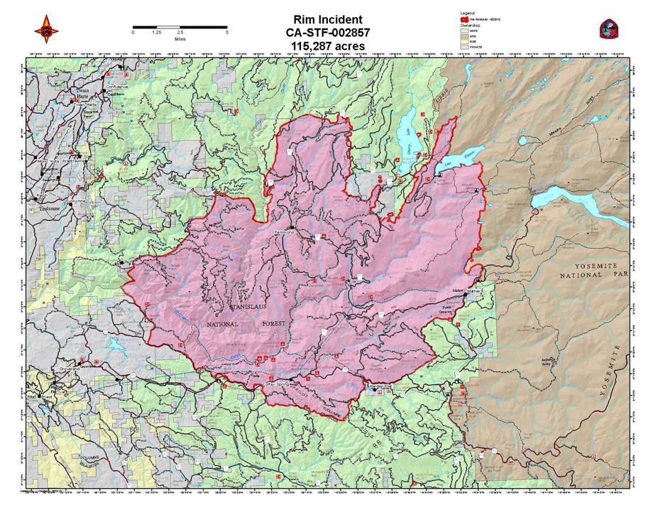 Intuitive fred888: Fire Map for Rim Fire in Yosemite