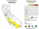 California and National Drought Summary for September 19, 2017