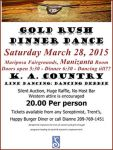Mariposa Soroptimist Holding Annual Gold Rush Dinner & Dance on March 28, 2015