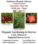 Oakhurst Library Hosts Organic Farming in the Mountains Talk on May 9, 2015