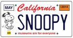 You Can Be A Beagle Backer With A Snoopy California License Plate