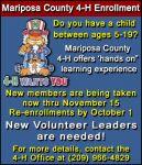 Mariposa County 4-H Enrollments & Fair News for 2015