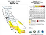 California and National Drought Summary for July 18, 2017