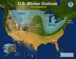 NOAA Releases National Winter Outlook for 2017-18 – Average Precipitation With Mild Temperatures for California's Central Valley, Foothills and Mountains