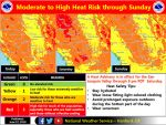 National Weather Service Issues Heat Advisory and Excessive Heat Watch Issued for Parts of Mariposa County
