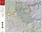 Ferguson Fire Near Yosemite National Park in Mariposa County, Sunday, August 19, 2018 Public Information Map with 100% Containment