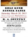 Mariposa Soroptimist Host Annual Gold Rush Dinner & Dance on March 28, 2015