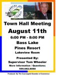 Madera County District 5 Supervisor Tom Wheeler Hosts a Town Hall Meeting on Thursday, August 11 at the Pines Resort at Bass Lake