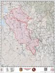 Daily Operations Map for Detwiler Wildfire in Mariposa County for Saturday, July 22, 2017