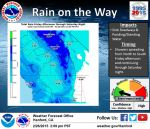 National Weather Service Hanford Says Rain on the Way