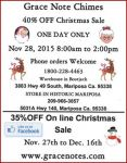 Grace Note Chimes 2015 Christmas Sale