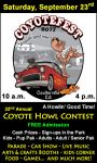 Have a Howlin' Good Time at Coulterville's Annual CoyoteFest on Saturday, September 23, 2017