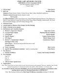 Fish Camp Advisory Council Agenda for Saturday, January 24, 2015