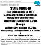 Caltrans Announces Upcoming Road Work on Highway 49 North Beginning September 9
