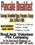Bootjack Volunteer Fire Company Host Pancake Breakfast & Yard Sale on January 28, 2017