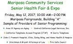 Mariposa County Community Services' to Host Annual Senior Health Fair & Expo on May 12, 2017