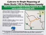 Caltrans Repaving Of Highway 140 In Mariposa County From Mariposa To Midpines Begins Monday, August 20, 2018 Until October 2018