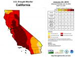 California Drought Monitor for January 20, 2015 Finds No Improvement Over Previous Week