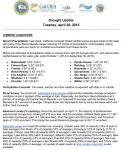 California Drought Briefing for March 28, 2015 Finds CAL FIRE has Responded to Over 943 Wildfires Since January 1