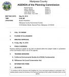 Mariposa County Planning Commission Meeting Agenda for May 29, 2015