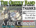 Mariposa Grizzly Band to Host Thank You Concert on June 2, 2015