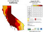 California Drought Monitor and National Drought Summary for August 25, 2015