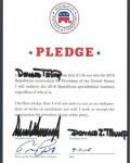 Presidential Candidate Donald Trump Signs the Republican Pledge