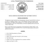 Mariposa County Social Services Transportation Advisory Council to Meet on October 15, 2015