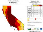 California and National Drought Summary for October 6, 2015