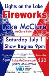 Get Ready for Fireworks in Mariposa County at Lake McClure on Saturday, July 1, 2017